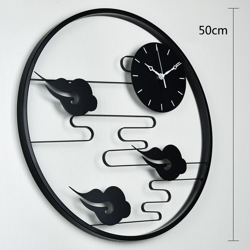 Chinese Home Trend Wall Clock Quartz Dimensional Sticker Watch Wall Zegar Decorations Living Room Wanduhren Decor Clocks 50A0848