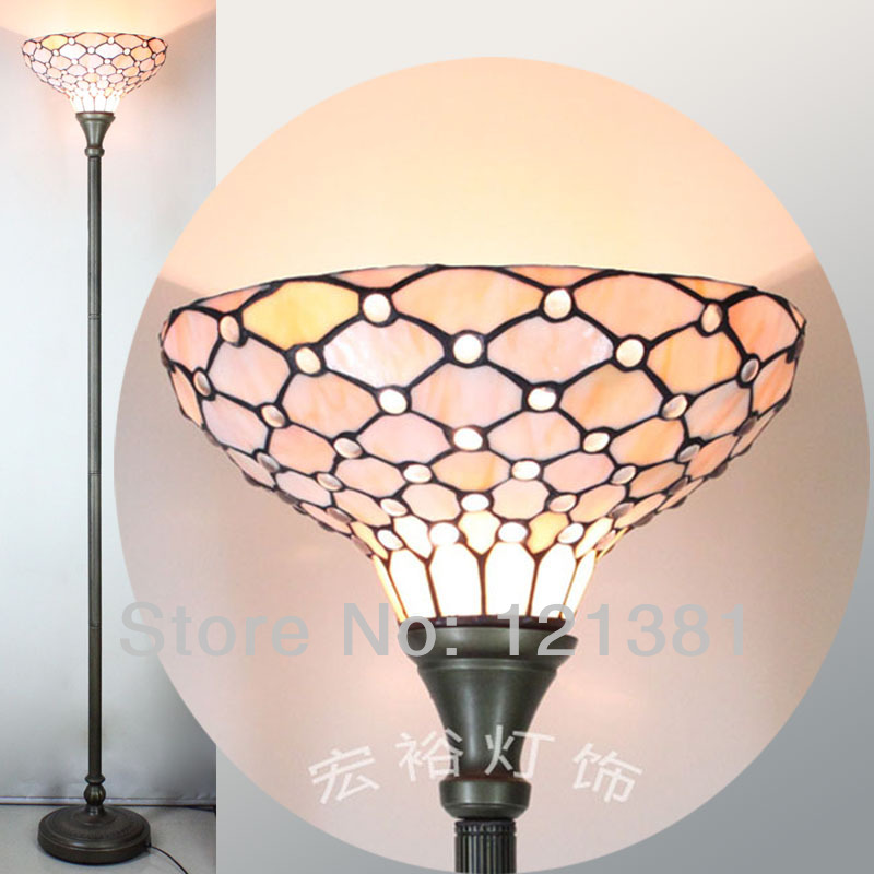 Antique European Style Tiffany Clear Beads Torchiere Lamp Living Room Floor Light Stained Gl Lampshade Uplighter W14 In Lamps From Lights