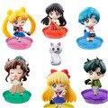 Sailor Moon cristal de la escuela vida Chiba Mamoru Sailor Mars mercurio Jupiter Venus 6 CM acción PVC figura de juguete