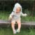 2016 Nueva Primavera Otoño Niños de Algodón Estilo Largo Del Oído de Conejo Suéteres con capucha Para Niños Niñas Ropa de Bebé Otoño Suéter de Punto Cardigan