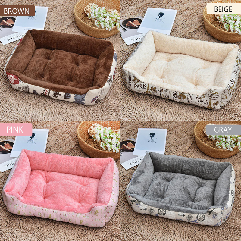 Astounding Us 11 44 25 Off Plush Size Cozy Pet Dog Bed Sofa Soft Fleece Dog Beds Blanket For Small Large Dogs Golden Retriever Chihuahua Warm Puppy Cat Bed In Andrewgaddart Wooden Chair Designs For Living Room Andrewgaddartcom