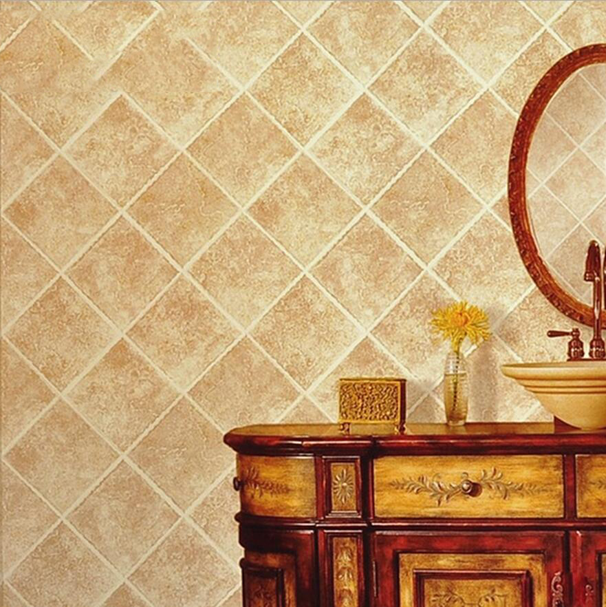 Wallpaper chinese <font><b>style</b></font> vintage <font><b>tile</b></font> designs wallpaper background kitchen washable wallpaper