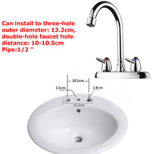 Wash Faucet Hot Cold Plumbing Home Accessories Tools Parts Sink Spray Mixer Tap Bathroom Chrome Kitchen Swivel(China)