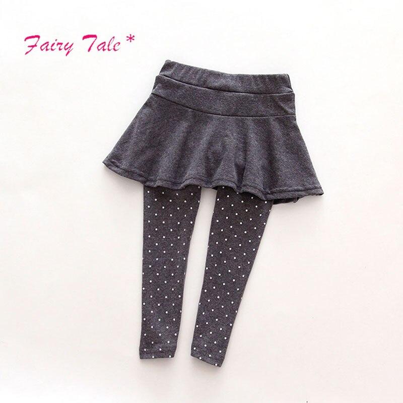 Brand Baby Girl Leggings Skirt-Pants Cake Kids Winter Warm Children\s Girls Skirt Pant Boot cut For 2-7 Children