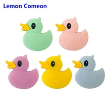 Teething Beads Silicone BPA Free Baby Teethers Accessories Duck Silicone Beads For Teething Necklace Bracelet Pacifier Chain 3PC 50 pairs breakaway plastic clasps for silicone teething necklace pacifier diy safety clasp for baby bracelet chain lobster clasp