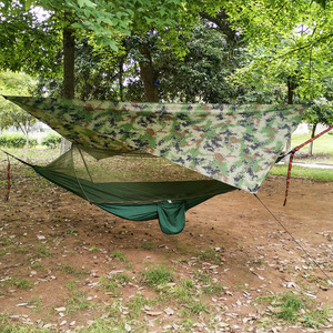 Image 4 - Outdoor Pop Up Netting Hammock Tent With Waterproof Canopy Awning Set  Automatic Quick Opening Mosquito Free Hammock Portable