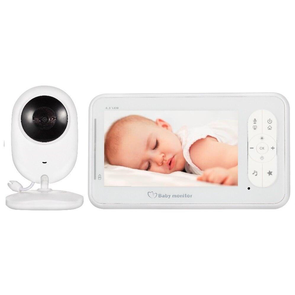 Детская сигнализация камера bebe baby call 4,3 дюймов TFT ЖК дисплей ИК переговорное устройство с режимом ночной съемки Термометры колыбельные VOX де