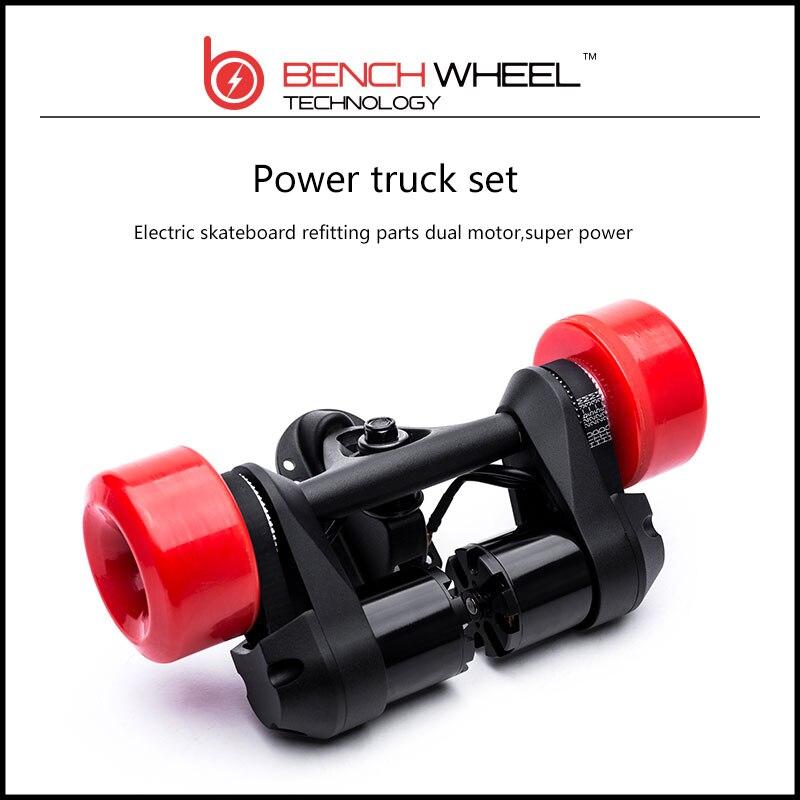 Prix pour Benchwheel Puissance Système Tableau Électrique kit Moteur électrique Camion Avec Moteur Électrique Skate Double Moteur