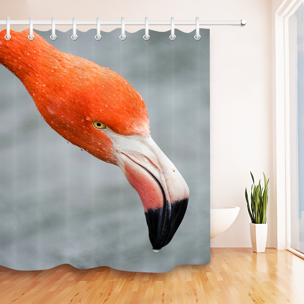 72x72/'/' Tropical Crested Ibis Bathroom Shower Curtain Waterproof Fabric 12 Hooks