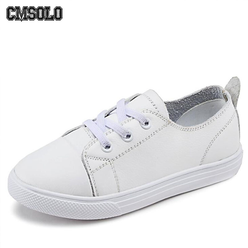 CMSOLO Children Shoes School Boys Girls Fashion Sneakers Running Leather Black White Kids Walking Shoes Leisure Brand Size 26-36