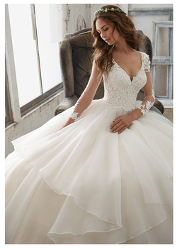 7f60d944c44e Find prices Fantastic A Line Long Sleeve Wedding Dress Tulle lace Wedding  Dress Appliques Beaded Princess