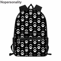 Nopersonality Black School Bags Cat Paws Prints Kawaii School Backpack for Middle Student Teenager Girls Orthopedic Schoolbags