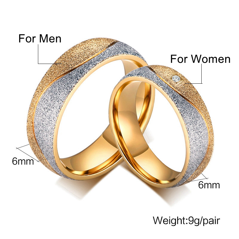 Engraved Name Couple Ring Ladies Jewelry Gold color Stainless ...