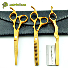 6″ gold hair scissors hairdressing scissors kit cheap professional hair dressing scissors barber shop hair cut diy haircutter