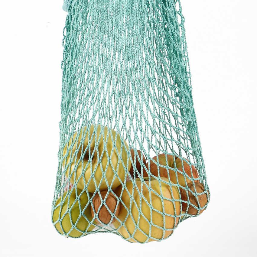 1 шт. многоразовая струнная хозяйственная сумка «фрукты» для бакалейный товаров в супермаркете, сумка-шоппер, сумка-шоппер, сетчатая тканая хлопковая ручная сумка
