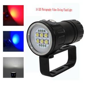 Image 2 - Светодиодный фонарик для дайвинга светильник HP70/90, светильник рь для фотосъемки и видеосъемки 100 лм, подводный водонепроницаемый тактический фонарь м