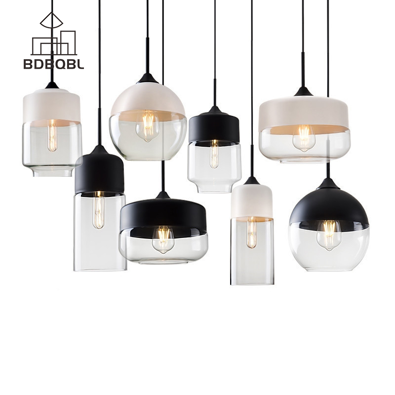 BDBQBL Brief Modern Contemporary Pendant Lights LOFT Pendant Lights Fixtures for Kitchen Restaurant Cafe Bar Living Room