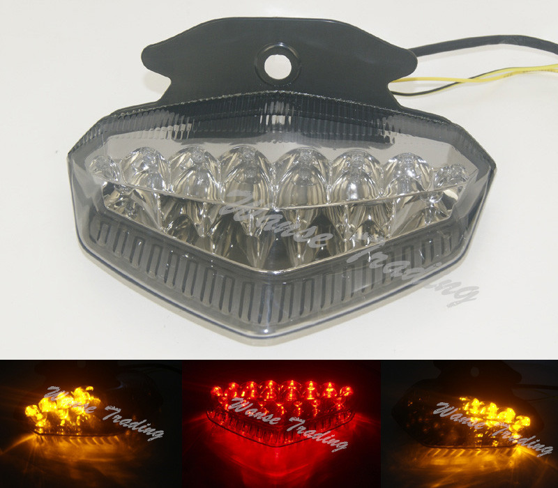 Motorcycle Rear Taillight Tail Brake Turn Signals Integrated Led Light Smoke For DUCATI Hypermotard 796 1100S 1100 S EVO SP aftermarket free shipping motorcycle parts led tail brake light turn signals for honda 2000 2001 2002 2006 rc51 rvt1000r smoke