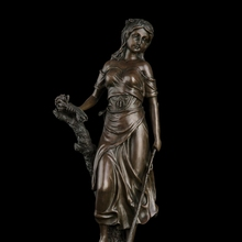 ATLIE Classical modern lady sculpture dressed Cauliflower girl bronze statue  wedding decoration gifts