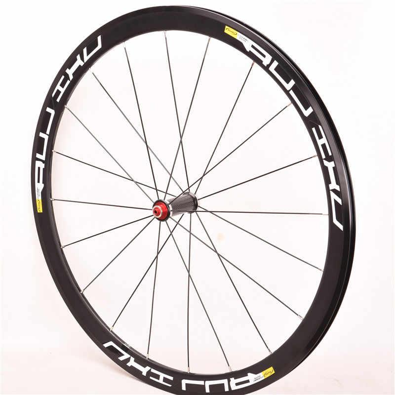Ultra-léger 700c 40mm moyeu en fiber de carbone V frein alliage vélo roues frein Bmx vélo route en alliage d'aluminium roues