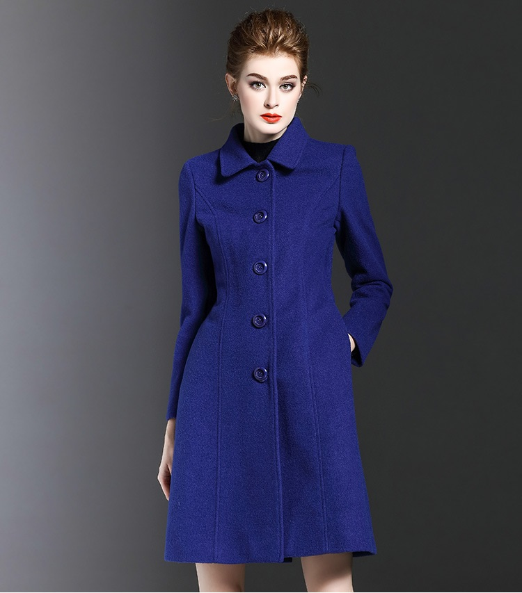 Popular Blue Wool Coat-Buy Cheap Blue Wool Coat lots from China ...