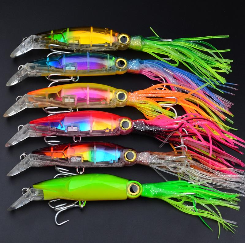 6pcs/lot Squid Lure Wobbler 14cm 40g Fishing Lures Bionic Squid Baits Trolling Minnow Fishing Lure Plastic Artificial Baits wldslure 1pc 54g minnow sea fishing crankbait bass hard bait tuna lures wobbler trolling lure treble hook
