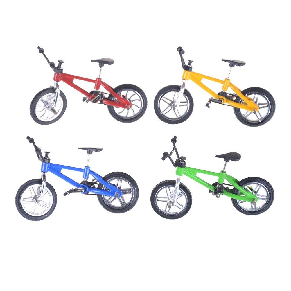 Kids Mini Finger BMX Bicycle Flick Trix Finger Bikes Toys Tech Deck Gadgets Novelty Gag Toys For Gifts BMX Bicycle Model Bike