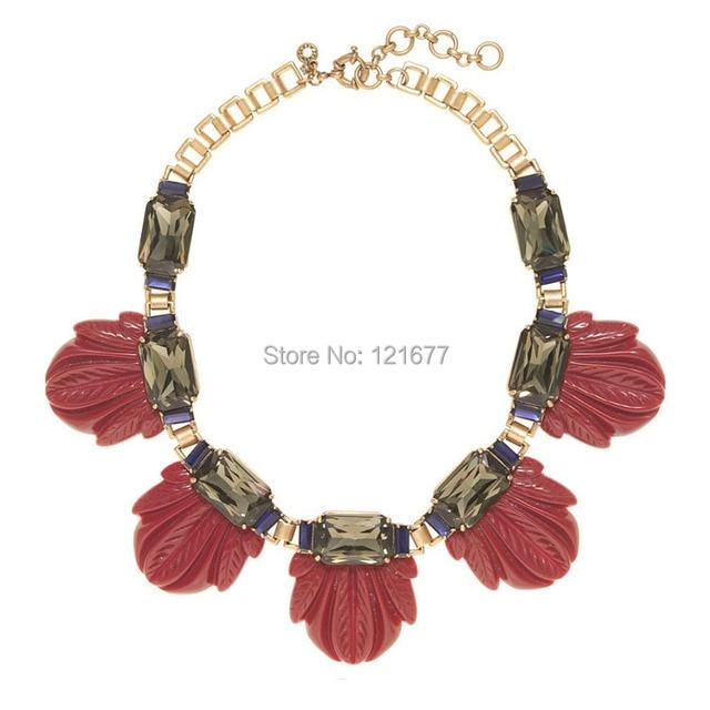 281ef9d1522d Diseñador de la marca Maxi Flor de la Resina Collar de Declaración Chunky  Crystal Gem Bib