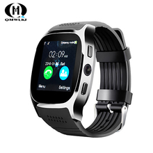 T8 Bluetooth Smart Watch Support SIM TF Card With Camera Sports Wristwatch Music Player for ios Android smart wristband стоимость