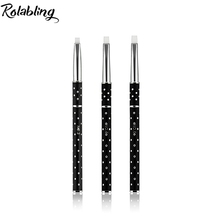 3pcs SIZE 2#/4#/6# Acrylic Nail Art Builder hair Brush Drawing Pen Handle with Diamonds Nail Brush Kit Painting Tools Nail Art