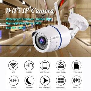 Image 2 - GADINAN HD 1080 P 720 720P ワイヤレス IP カメラ P2P RTSP モーション検出防水 WiFi カメラ弾丸 64 グラム SD カードスロット iCSee