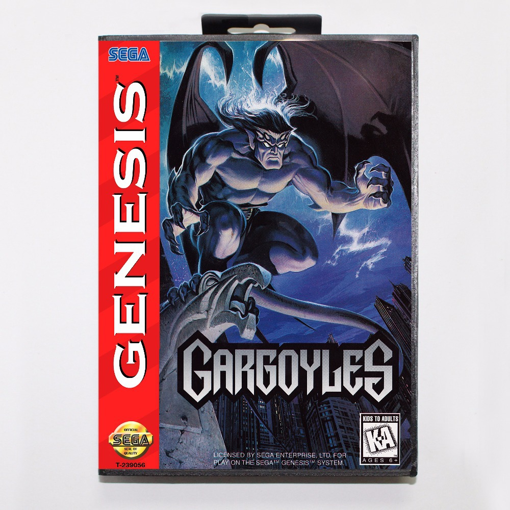 Gargoyles Game Cartridge 16 bit MD Game Card With Retail Box For Sega Mega Drive For Genesis