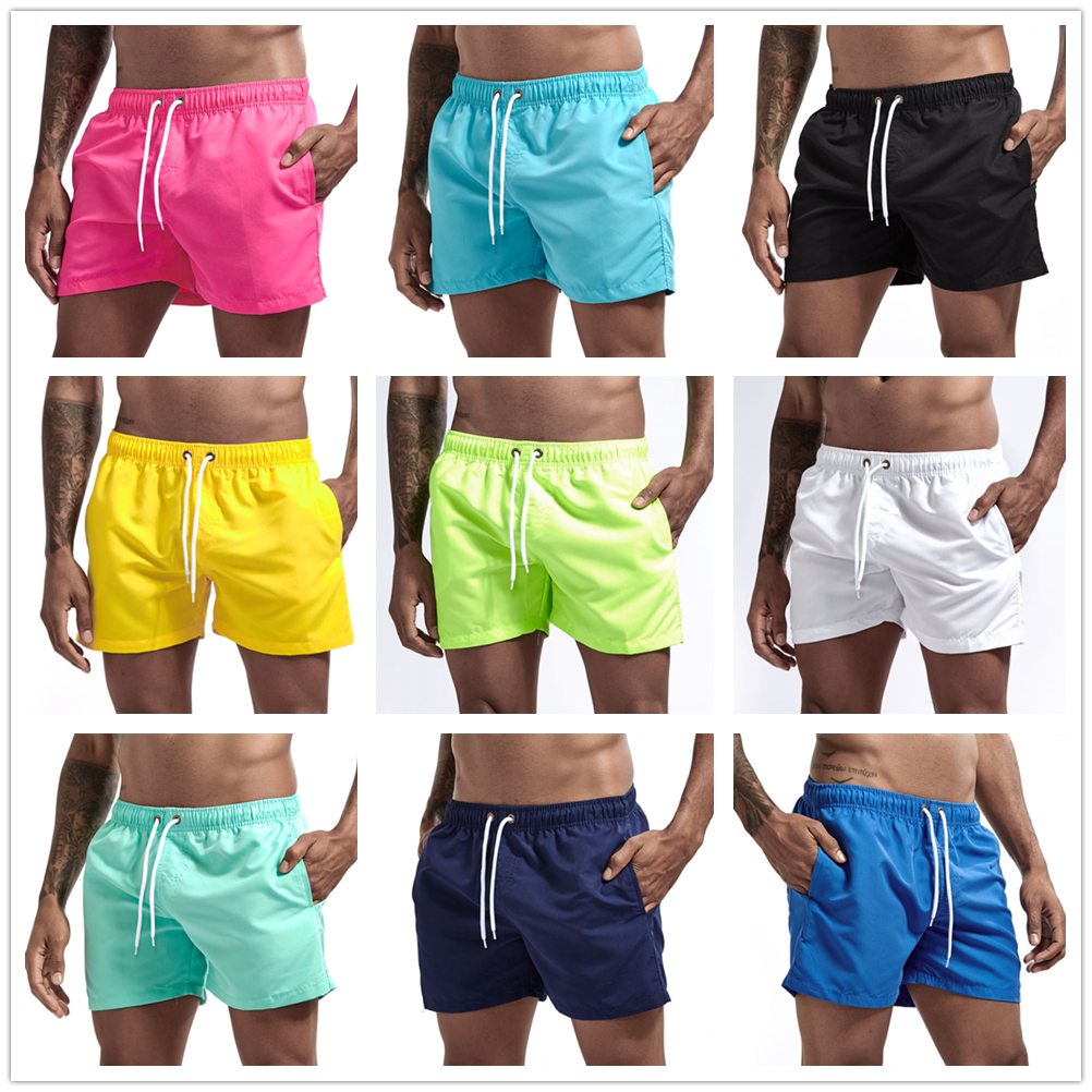 Swimming-Shorts Short-Board Pants Pocket Boxer Surf Men Swimwear Beach-Wear Summer