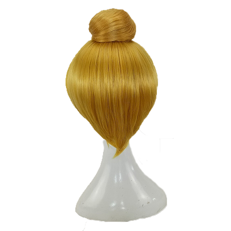 HAIRJOY  Synthetic Hair Tinker Bell Cosplay Wig with Detachable Bun Blonde Brown  Heat Resistant Costume Wigs 3