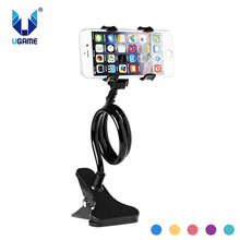 Universal Flexible Holder Arm Lazy Mobile Phone Gooseneck Stand Holder Flexible Bed Desk Table Clip Bracket For iPhone