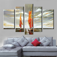 Master Artwork Hand Painted Marine Scenery Painting Retro Seascape Canvas Oil Painting Ship On The