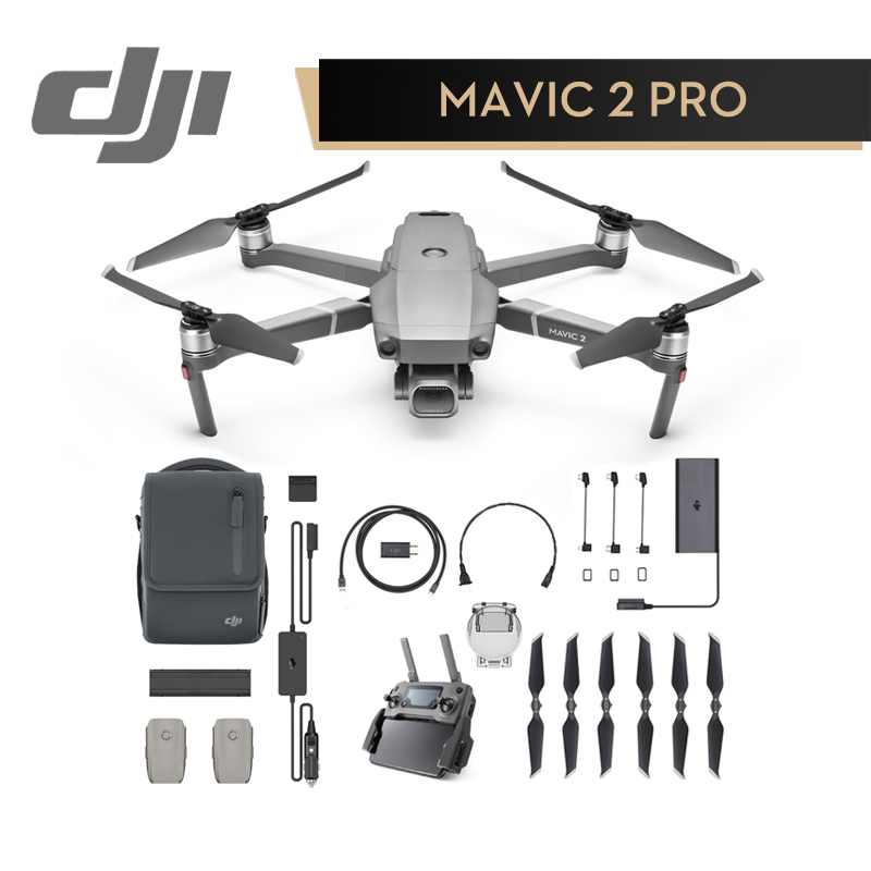 DJI Mavic 2 Pro Zoom Fly More Combo Kit In Store DJI Goggles RE Combo for mavic 2 4K Video RC Helicopter FPV Quadcopter Original квадрокоптер dji mavic pro platinum combo темно серый