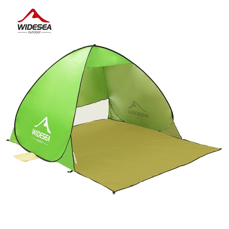 WIDESEA tente de plage pop up ouvert 1-2person sunshelter rapide automatique 90% UV-de protection auvent tente de camping de pêche parasol - 3