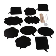 10pcs DIY Black Card Wedding Photography Props Love Wedding Party Decoration Photobooth Props 10 Cards 10
