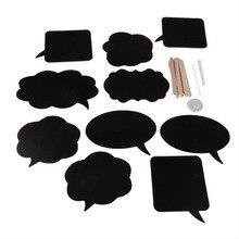DIY 10pcs black cards 10pcs sticks chalk glue Mr Mrs Photo Booth Props Love DIY Photography