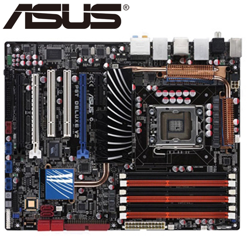 D'origine carte mère pour ASUS P6T Deluxe V2 LGA 1366 DDR3 24 GB USB2.0 Core i7 CPU X58 Bureau motherborad Livraison gratuite