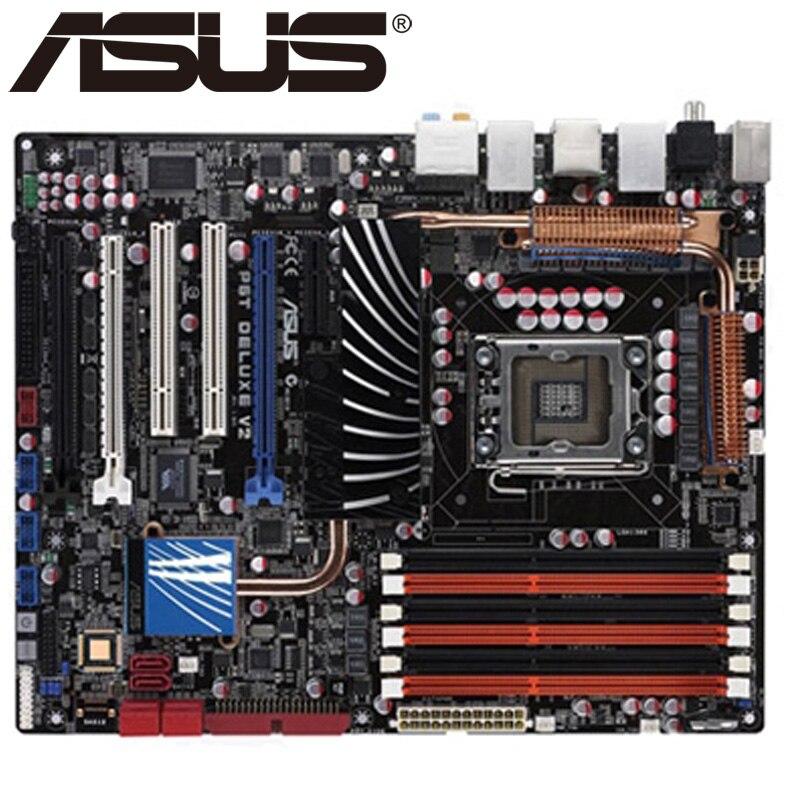 original motherboard for ASUS P6T Deluxe V2 LGA 1366 DDR3 24GB USB2.0 Core i7 CPU X58 Desktop motherborad Free shipping
