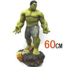 Супер размер 1/4 Масштаб 60 см 8 кг Мстители 3 Халк Зеленый гигантский ПВХ Фигурка Статуя Коллекция Модель игрушки для детей подарок