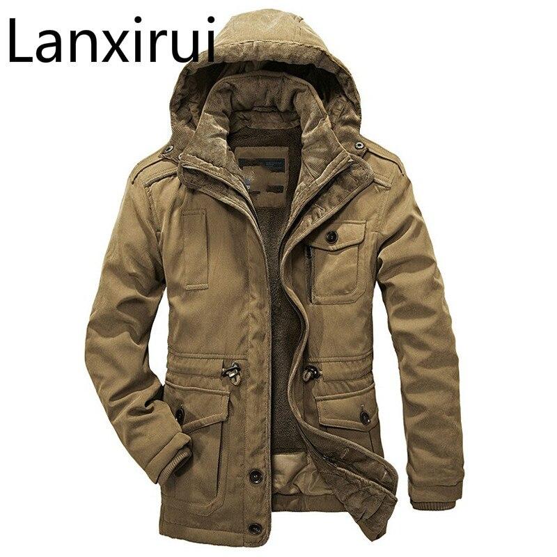 Winter Jacket Men Casual Thicken Warm Minus 40 Degrees Cotton-Padded Jackets Men's Hooded Windbreaker Parka Plus Size 4XL Coat