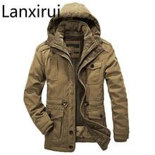Мужская зимняя куртка с хлопковой подбивкой, повседневная утепленная парка с капюшоном размера плюс 4XL, выдерживает температуру до 40 градусов