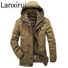 Veste chaude à capuche pour hommes, manteau coupe vent épais, taille moins, 40 degrés, coupe vent grande taille 4XL, hiver veste hommes décontractée