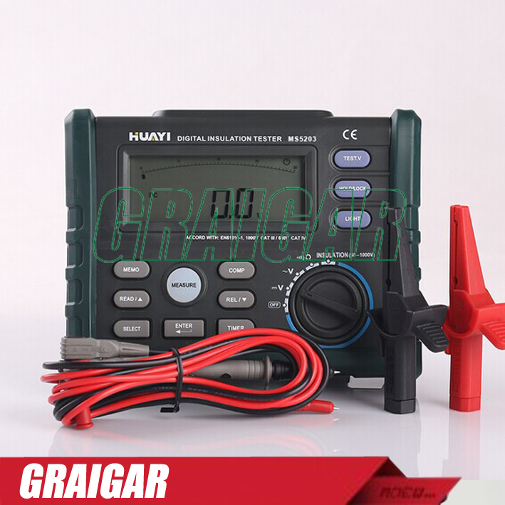 MS5203 1000V Digital Insulation Resistance Tester Digital Megger  цены