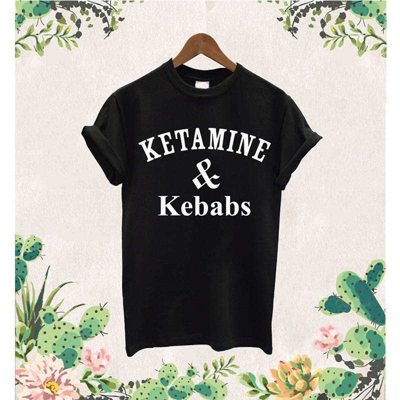 Ketemine & Kebabs T shirt And Caviar Protein Shakes Pizza Unicorn Dope Unisex T-Shirt More Size and Colors funny t shirt women