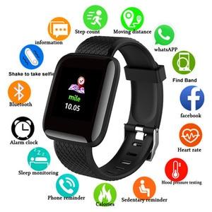 Image 1 - موضة الرياضة ساعة ذكية الرجال النساء ل أندرويد IOS Smartwatch جهاز تعقب للياقة البدنية مقاوم للماء ساعة ذكية Smartwach جديد ساعة اليد