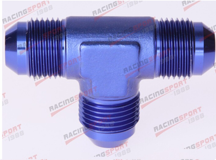 AN4 4AN AN -4 Male FLARE UNION Tee T-piece Fitting Adapter  Blue